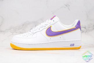 Nike Air Force 1 Lakers White Purple Yellow