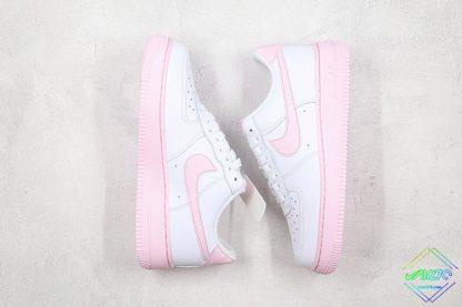 Nike Air Force 1 Low Pink Foam lateral medial swoosh