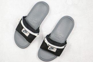 Nike Benassi Fanny Pack Slides Black Grey