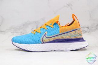 Nike Epic React Infinity Run Flyknit Blue Yellow