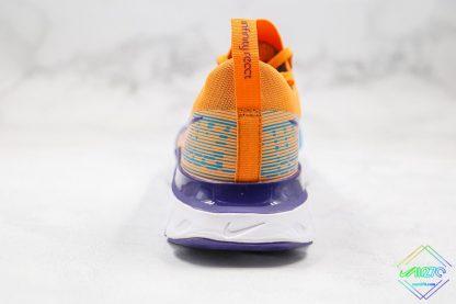 Nike Epic React Infinity Run Flyknit Blue Yellow heel