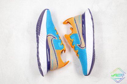 Nike Epic React Infinity Run Flyknit Blue Yellow lateral