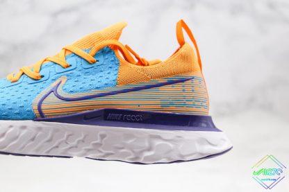 Nike Epic React Infinity Run Flyknit Blue Yellow purple swoosh