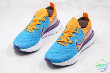 Nike Epic React Infinity Run Flyknit Blue Yellow shoes