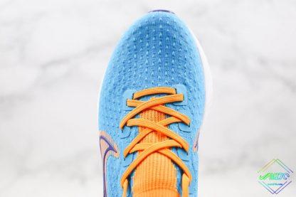 Nike Epic React Infinity Run Flyknit Blue Yellow upper
