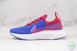 Nike React Infinity Run Flyknit Royal Blue Gym Red