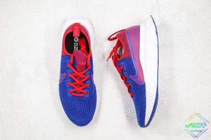 React Infinity Run Flyknit Royal Blue Gym Red front