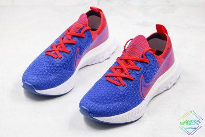 React Infinity Run Flyknit Royal Blue Gym Red sneaker