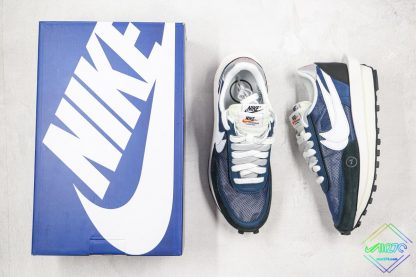 Sacai x Nike LVD Waffle Daybreak Flint Blue tongue
