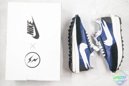 Sacai x Nike LVD Waffle Daybreak Royal Blue Black-White swoosh