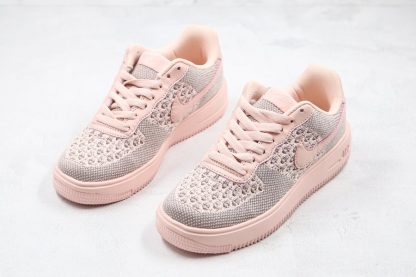 Womens Nike Air Force 1 Flyknit 2.0 Pink Front