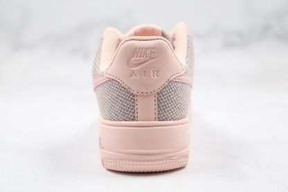 Womens Nike Air Force 1 Flyknit 2.0 Pink Heel