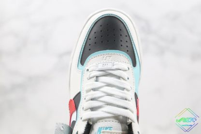 Air Force 1 Shadow Bleached Aqua hindfoot front