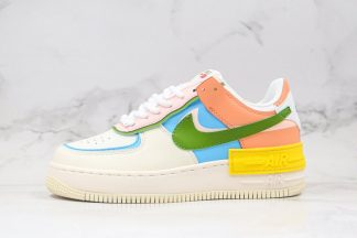 Nike Air Force 1 Shadow Beige Pink Blue Yellow