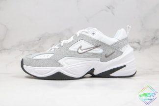 Nike M2K Metallic Silver Glitter