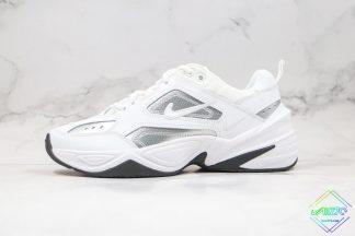 Nike M2K Tekno White Metallic Silver Black