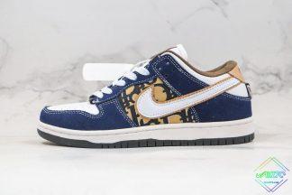 Dior X Nike SB Dunk Low Pro White Navy Blue