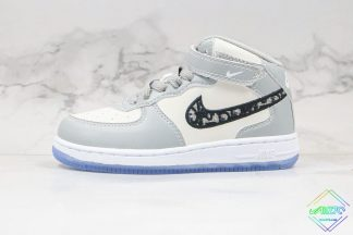 Kids Nike Air Force 1Mid Dior Grey