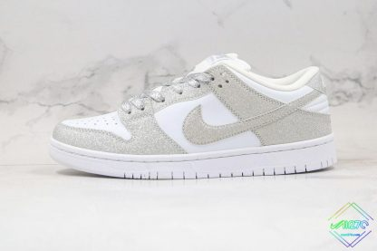 Nike SB Dunk Low Silver Shiny