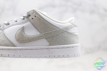 Nike SB Dunk Low Silver Shiny latersl