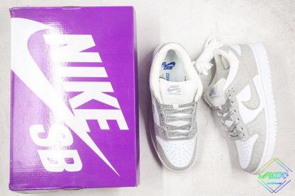 Nike SB Dunk Low Silver Shiny shoes