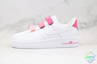 WMNS Nike Air Force 1 White Pink Velcro
