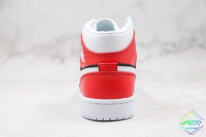 Air Jordan 1 Mid Gym Red Chicago heel