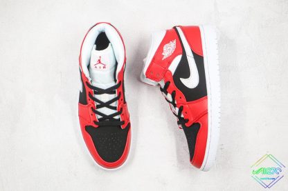 Air Jordan 1 Mid Gym Red Chicago tongue