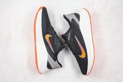 Air Zoom Winflo 7 Black Total Orange swooshes