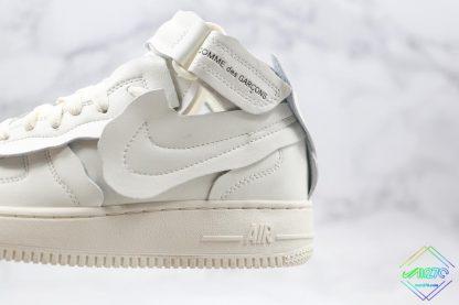 Comme des Garcons x Nike Air Force 1 Mid swoosh