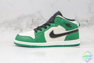 Kids Air Jordan 1 Mid White Pine Green