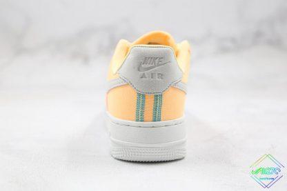 Nike Air Force 1 07 LX Life Lime Melon Tint grey heel