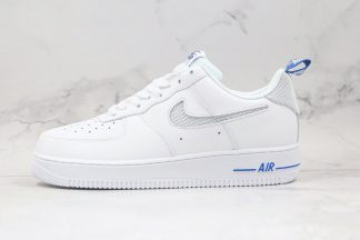 White Air Force 1 Low Cut Out Swoosh