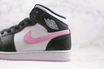 GS Jordan 1 Mid White Black Light Arctic Pink side
