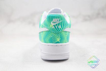 Nike Air Force 1 Green Geometry heel