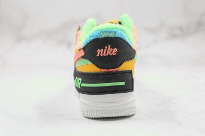 Nike Air Force 1 Shadow SE Furry Velour heel
