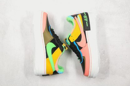 Nike Air Force 1 Shadow SE Furry Velour multi color