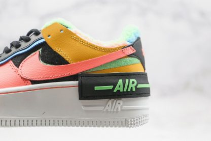 Nike Air Force 1 Shadow SE Furry Velour pink swoosh