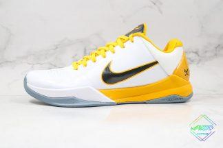 Nike Zoom Kobe V White Del Sol-Metallic Silver