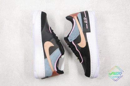 AF-1 1 Shadow Black Light Arctic Pink shoes