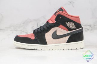 Air Jordan 1 Mid Burgundy Dusty Pink