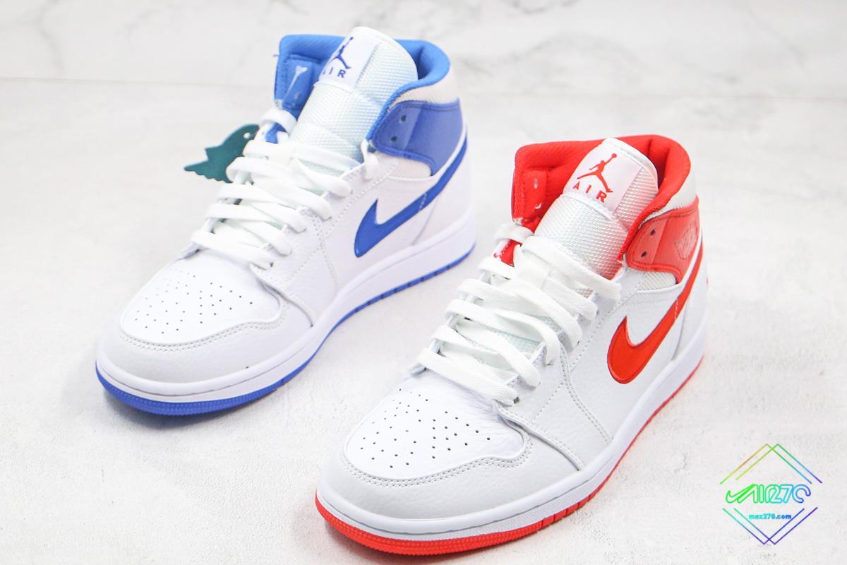Air Jordan 1 Mid 85 White Red Royal Blue