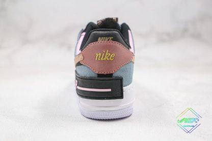 Nike Air Force 1 Shadow Black Light Arctic Pink Heel