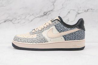 Honeycomb Nike Air Force One 1 Low Black Beige