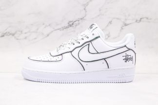 Air Force 1 Low White Black Signature Shoes