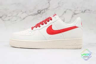 Nike Air Force 1 Low Canvas White Gym Red