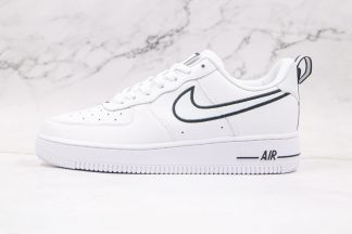 Nike Air Force 1 White Black Out Line