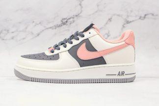 Women Nike Air Force 1 AF1 Beige Rust Pink