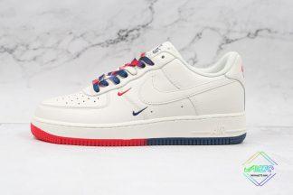 Nike Air Force 1 07 Low Beige Red Navy