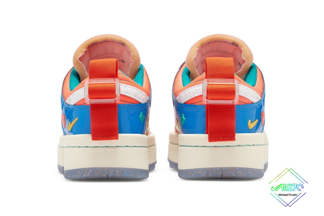 Nike Dunk Low Disrupt Kid at Heart heel